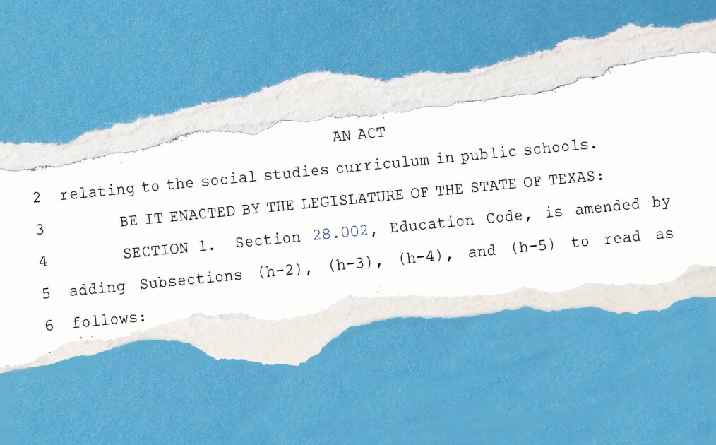 Full Text of the Texas Law Restricting Classroom Talk on Racism (HB 3979)