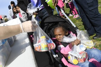 While their schools are shut down, children and families in Anne Arundel County, Md., received food through a special program.